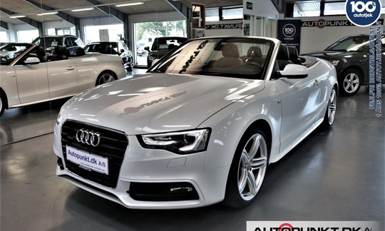 Audi A5 3,0 TDi 245 S-line Cabriolet quattro S-tr. 2d